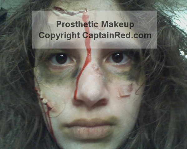 Prosthetic Makeup - Captain Red