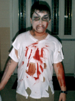 zombie facepainting